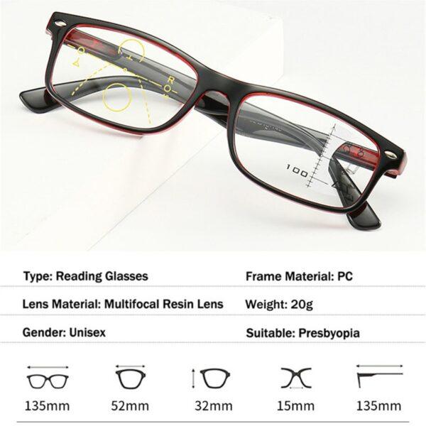 משקפי ראייה לגבר לאישה דגם 725